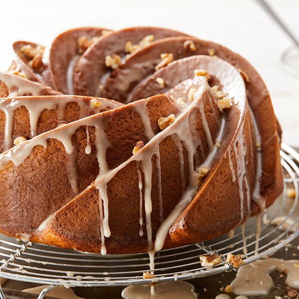 Pumpkin Bundt with Maple Frosting
