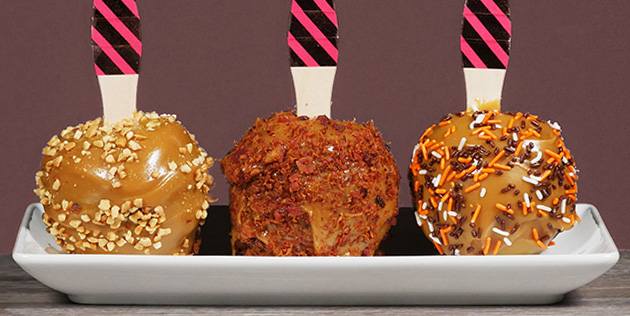 Topped Caramel Apples