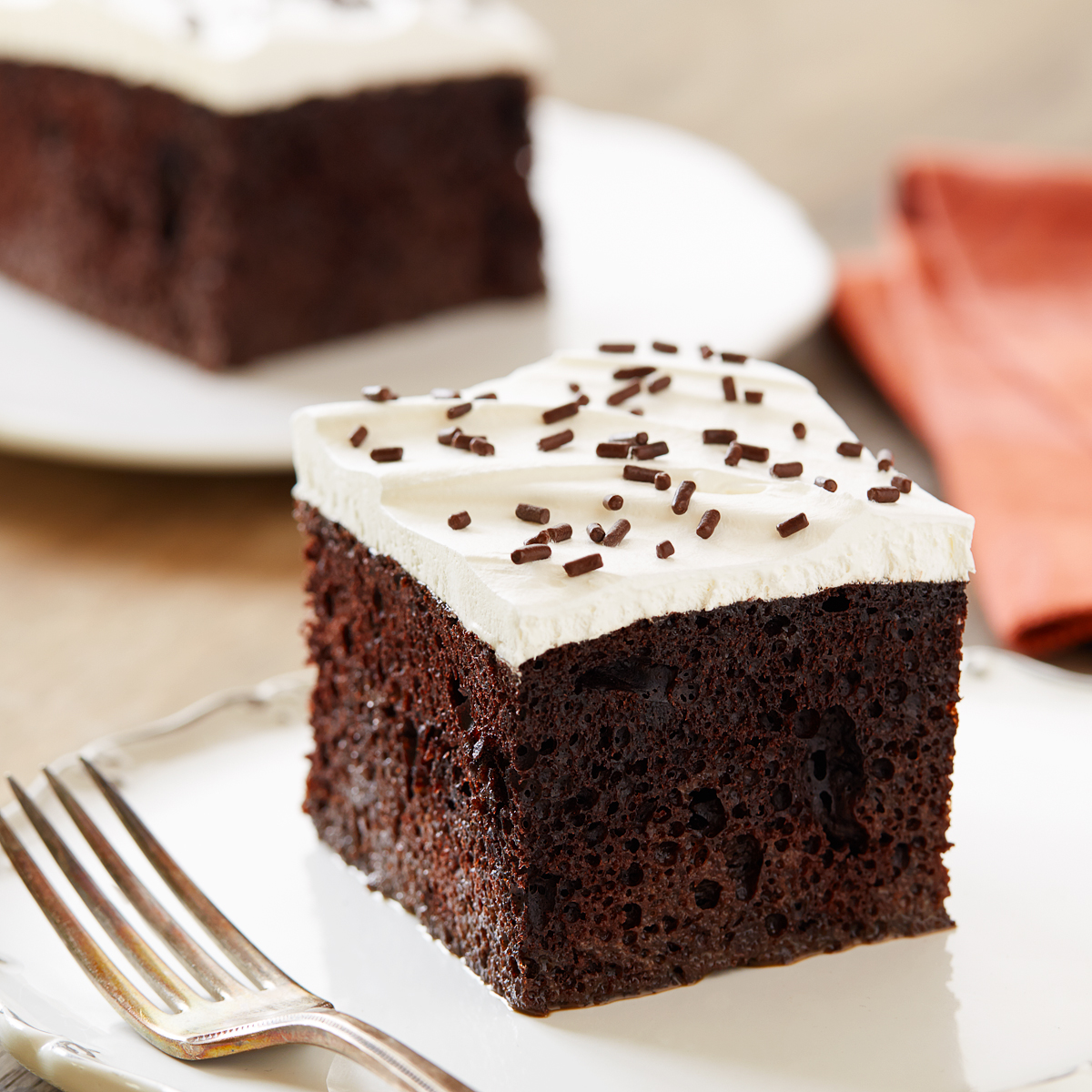 Spiced Chocolate Poke Cake