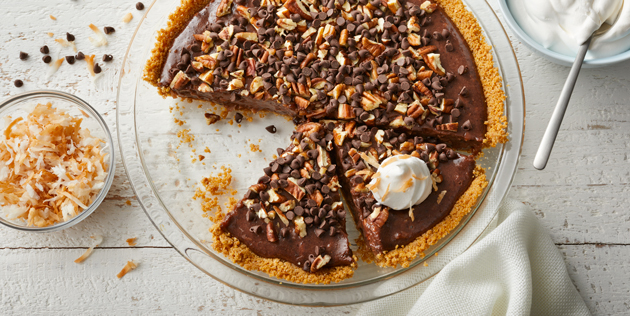 Fluffy Chocolate Magic Cookie Pie