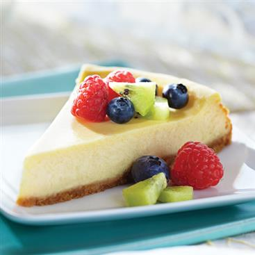 Lemony Cheesecake with Fresh Fruit
