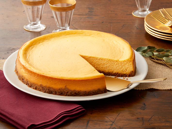Pumpkin Spice Cheesecake with Gingersnap Crust