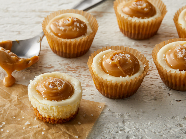 Salty Caramel Cheesecake Bites